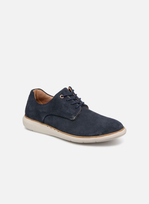 Chaussures à lacets Clarks Unstructured UN VOYAGE PLAIN Bleu vue détail/paire