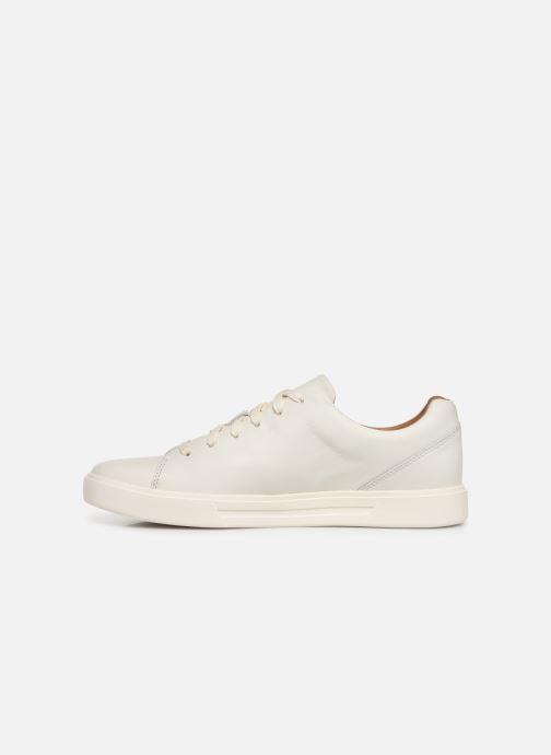 Sneaker Clarks Unstructured UN COSTA LACE weiß ansicht von vorne
