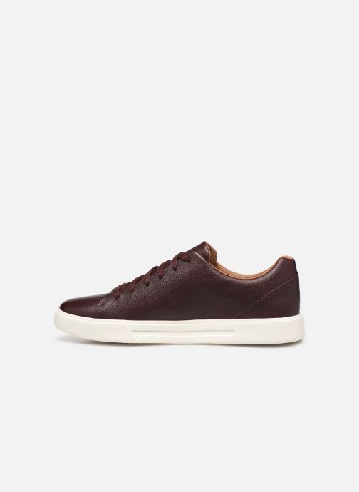 Trainers Clarks Unstructured UN COSTA LACE Burgundy front view