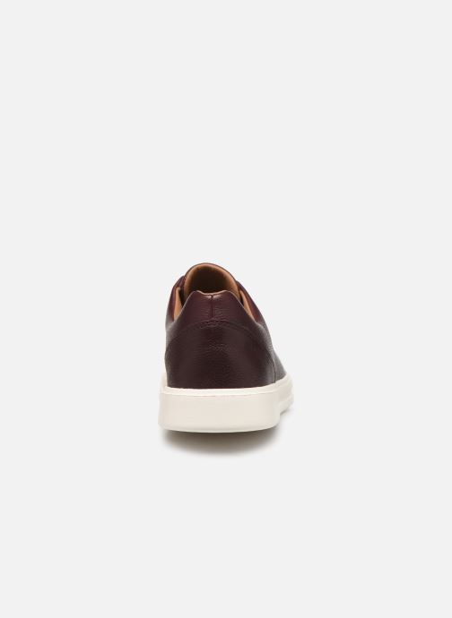 Trainers Clarks Unstructured UN COSTA LACE Burgundy view from the right