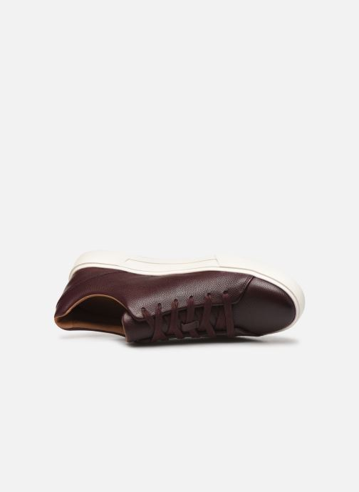 Trainers Clarks Unstructured UN COSTA LACE Burgundy view from the left