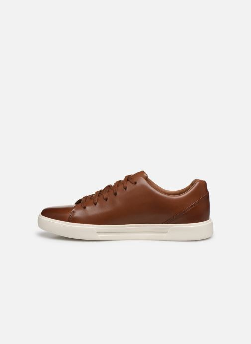 Baskets Clarks Unstructured UN COSTA LACE Marron vue face