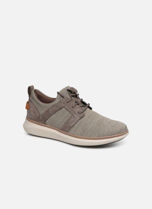 Sneakers Clarks Unstructured UN GLOBE LACE Brun detaljeret billede af skoene