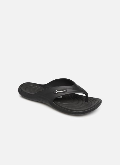 Flip flops Rider Cape XII Black detailed view/ Pair view