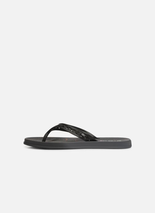 Chanclas Rider Jam Flow Thong Negro vista de frente