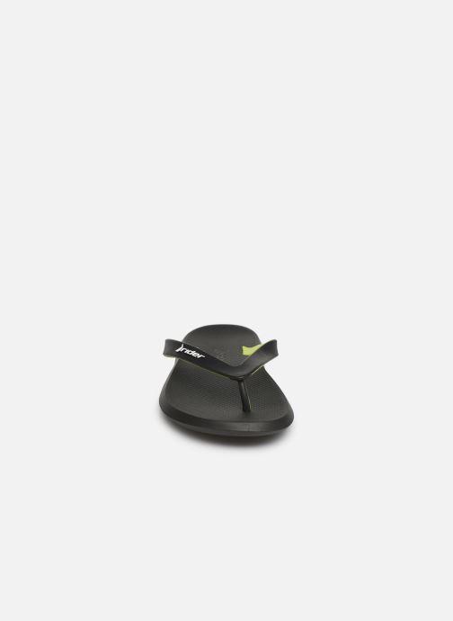 Tongs Rider R1 Noir vue portées chaussures