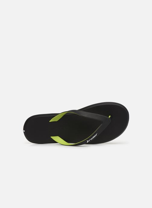 Flip flops Rider R1 Black view from the left