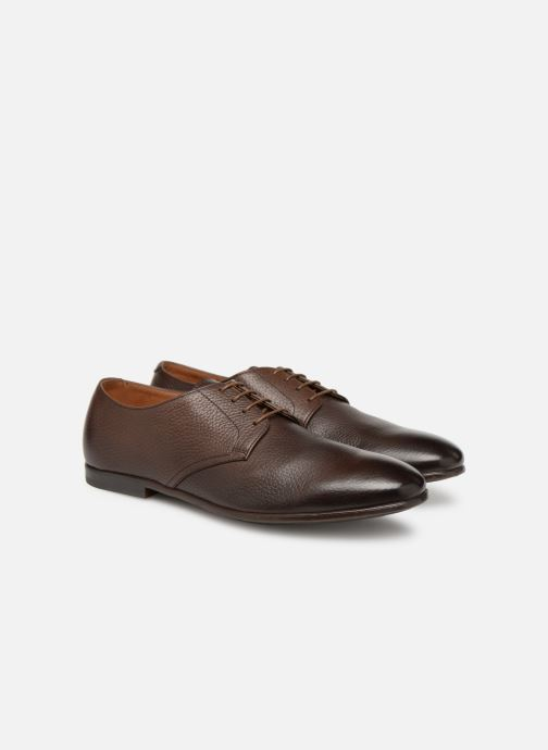 Lace-up shoes Doucal's MORENO Brown 3/4 view