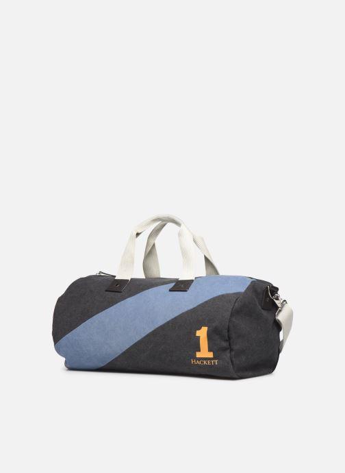 Sacs de sport Hackett London Sash Duffle Bleu vue portées chaussures