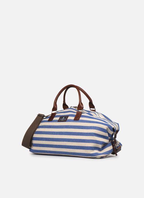 Bagages Hackett London HRR Carry-on Bleu vue portées chaussures
