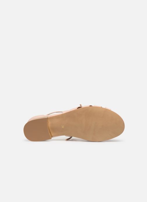 Sandales et nu-pieds Georgia Rose Eliena Beige vue haut