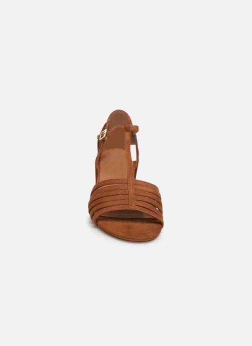 Sandales et nu-pieds Georgia Rose Emulti Marron vue portées chaussures