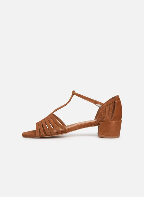 Sandales et nu-pieds Georgia Rose Emulti Marron vue face