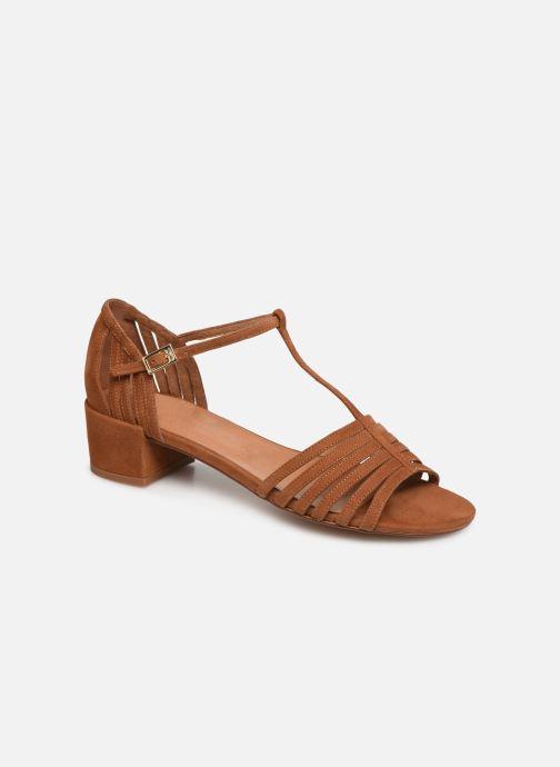 Sandales et nu-pieds Georgia Rose Emulti Marron vue détail/paire