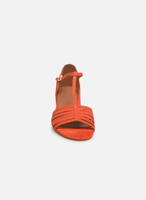 Sandales et nu-pieds Georgia Rose Emulti Orange vue portées chaussures