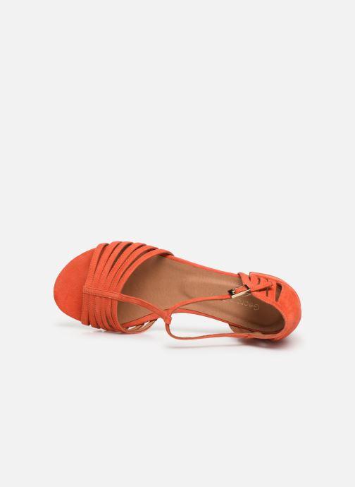 Sandales et nu-pieds Georgia Rose Emulti Orange vue gauche