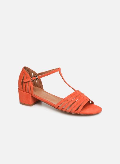 Sandales et nu-pieds Georgia Rose Emulti Orange vue détail/paire