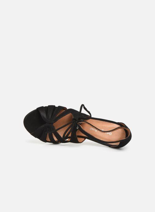 Sandales et nu-pieds Georgia Rose Espera Noir vue gauche