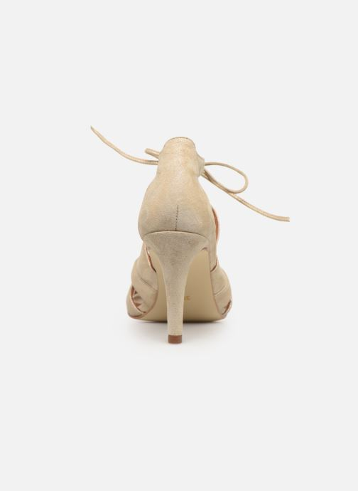 Sandales et nu-pieds Georgia Rose Espera Or et bronze vue droite