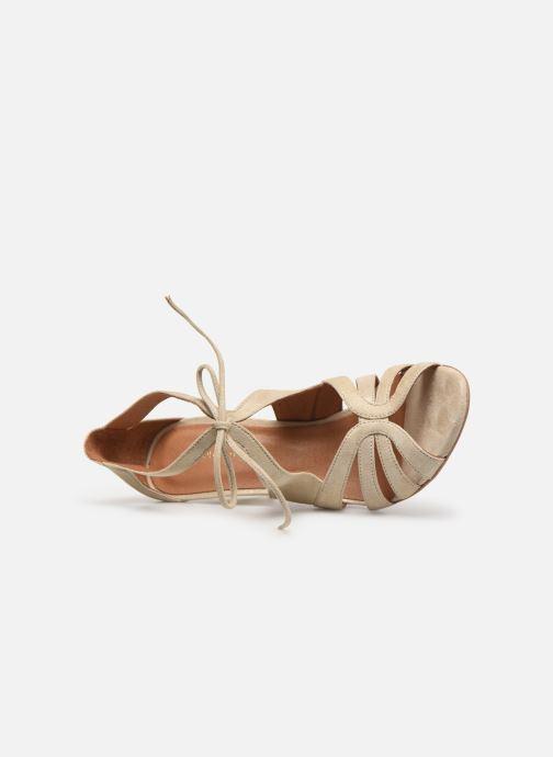 Sandales et nu-pieds Georgia Rose Espera Or et bronze vue gauche