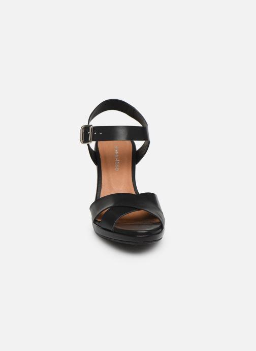 Sandales et nu-pieds Georgia Rose Esbloua Noir vue portées chaussures