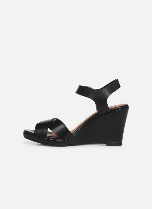 Sandales et nu-pieds Georgia Rose Esbloua Noir vue face
