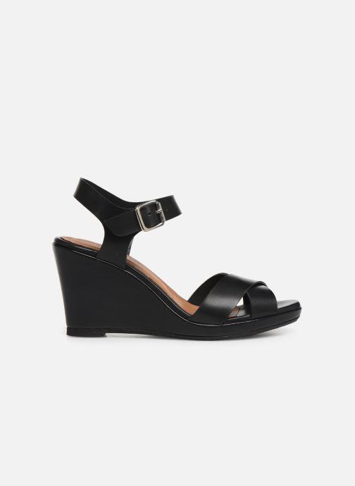 Sandales et nu-pieds Georgia Rose Esbloua Noir vue derrière