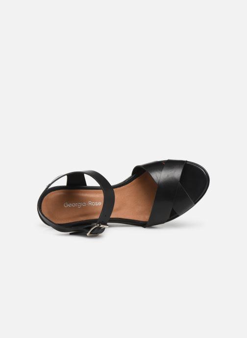 Sandales et nu-pieds Georgia Rose Esbloua Noir vue gauche