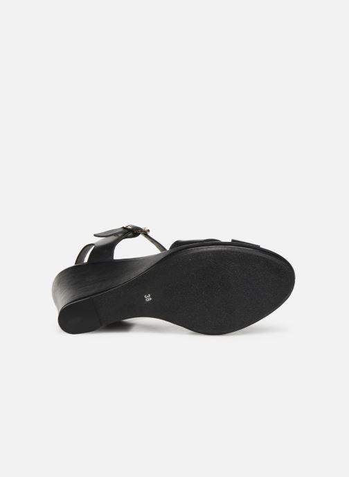 Sandales et nu-pieds Georgia Rose Esbloua Noir vue haut