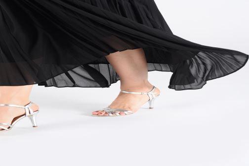 Sandales et nu-pieds Georgia Rose Euria Argent vue bas / vue portée sac