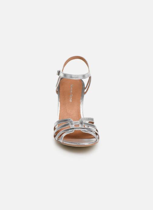 Sandales et nu-pieds Georgia Rose Euria Argent vue portées chaussures