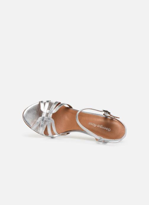 Sandales et nu-pieds Georgia Rose Euria Argent vue gauche