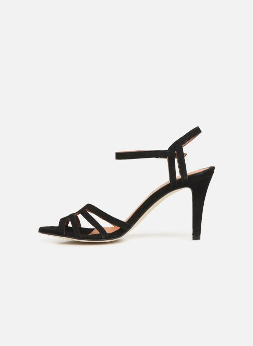 Sandales et nu-pieds Georgia Rose Euria Noir vue face