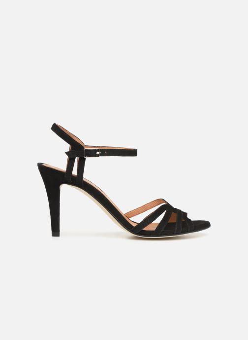 Sandales et nu-pieds Georgia Rose Euria Noir vue derrière