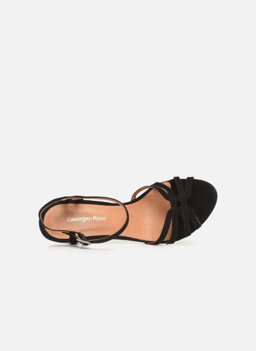 Sandales et nu-pieds Georgia Rose Euria Noir vue gauche