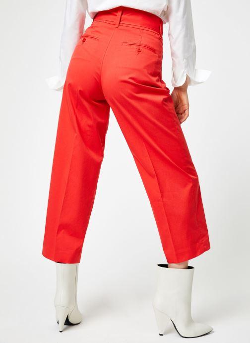 Vêtements Bensimon PANTALON BESNA Rouge vue portées chaussures