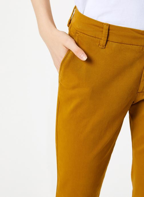 Vêtements Bensimon PANTALON CHINOSO Jaune vue face