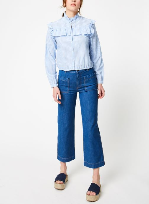 Vêtements Bensimon PANTALON BLUE Bleu vue bas / vue portée sac