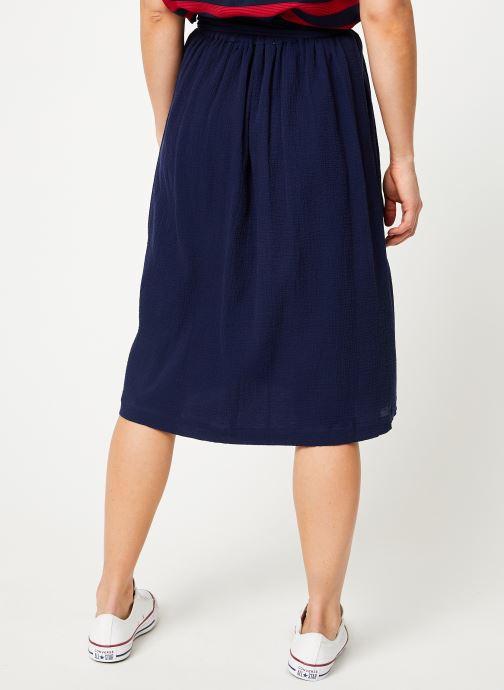 Vêtements Bensimon JUPE BILBAO Bleu vue portées chaussures