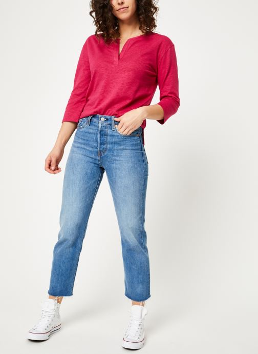 Vêtements Bensimon TEE SHIRT BORIS Rouge vue bas / vue portée sac