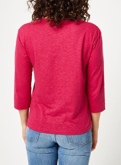 Vêtements Bensimon TEE SHIRT BORIS Rouge vue portées chaussures