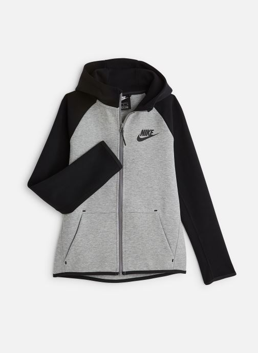 Ropa Nike Nike Sportswear Tech Fleece Full Zip Essentials Gris vista de detalle / par