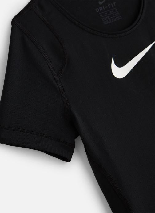 Vêtements Nike Nike Pro Top Ss Noir vue portées chaussures