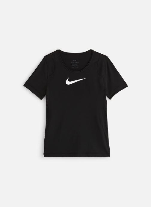 Kleding Nike Nike Pro Top Ss Zwart detail
