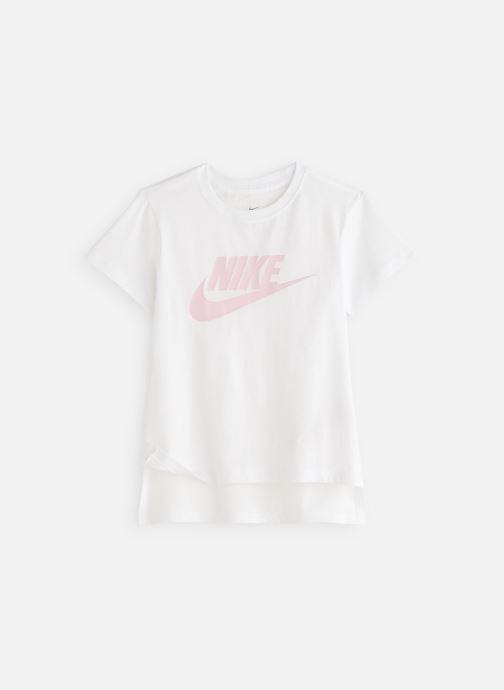 Kläder Nike Tee Basic Futura JUNIOR Vit detaljerad bild på paret