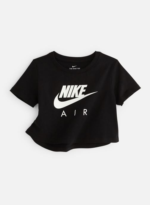 Kläder Nike Nike Sportswear Tee Nike Air Crop Svart detaljerad bild på paret