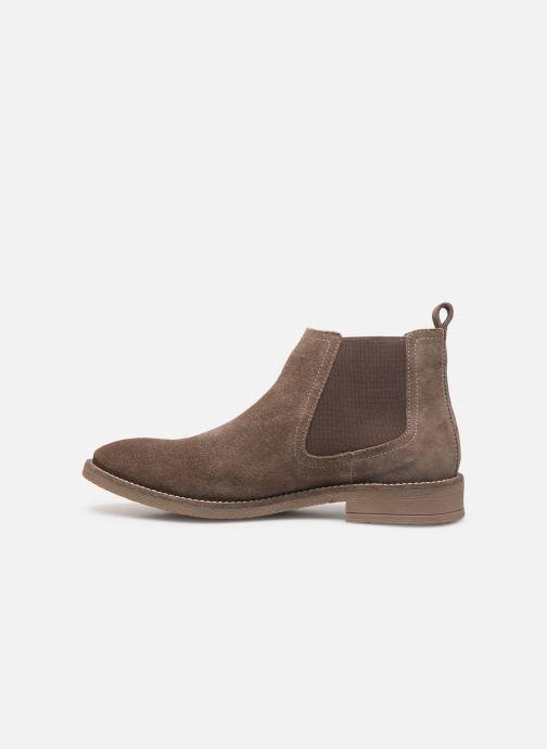 Bottines et boots Levi's Whitfield Chelsea Marron vue face
