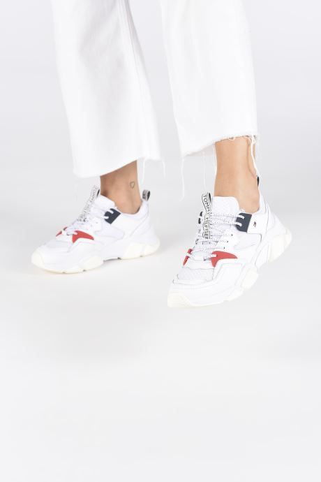 Sneakers Tommy Hilfiger WMN CHUNKY MIXED TEXTILE TRAINER Wit onder