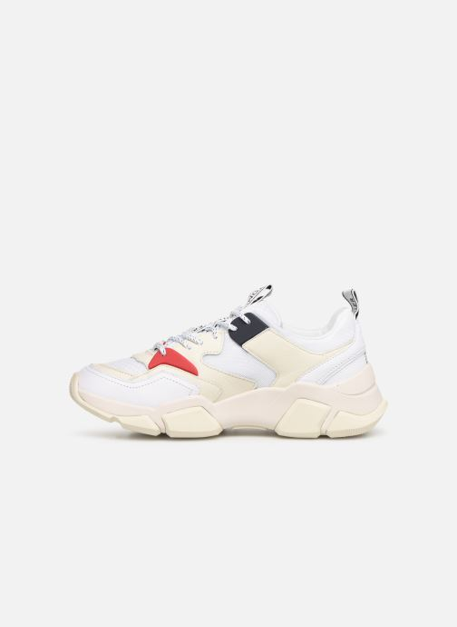 Sneakers Tommy Hilfiger WMN CHUNKY MIXED TEXTILE TRAINER Wit voorkant