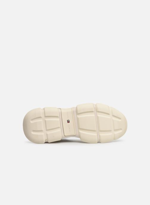 Sneakers Tommy Hilfiger WMN CHUNKY MIXED TEXTILE TRAINER Wit boven